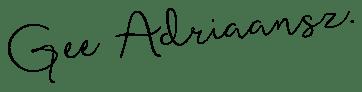 Digitale handtekening van Gee Adriaansz